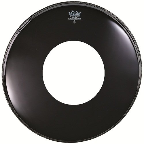 - Remo Ebony Powerstroke 3 Resonant Bass Drum Head, 22-inch