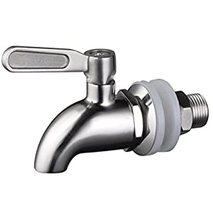 1 X Stainless Works™ Stainless Steel Beverage Dispenser Replacement Spigot(Polished Finish)