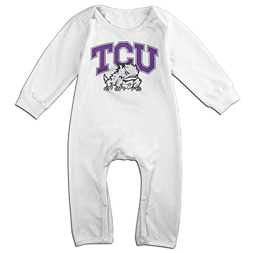 [Dara Texas Christian University Frogs Newborn Babys Long Sleeve Romper Bodysuit Outfits White 18] (18 Month Frog Costume)