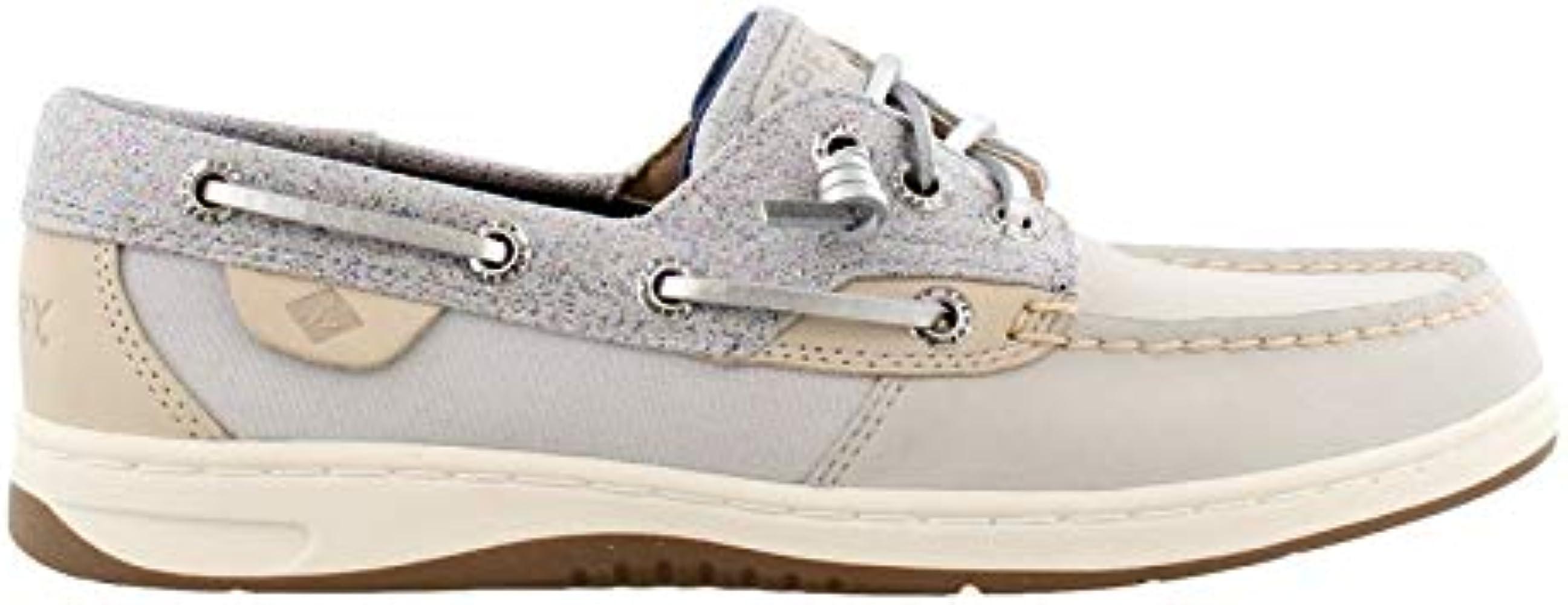 Boat Shoe Grey Oat Sparkle