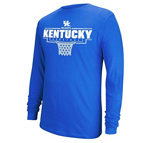 Kentucky Wildcats New Blue (Elite Fan Shop University of Kentucky Wildcats Long Sleeve Tshirt Basketball Blue - XL)