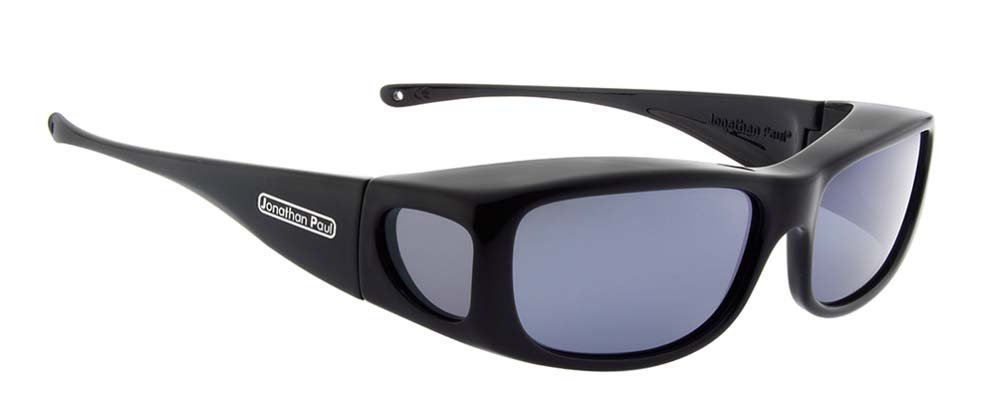 Jonathan Paul Fitovers Eyewear - Sabre - Medium - Fits Over Frames (142mm x 37mm) - Midnite Oil/Polarvue Grey
