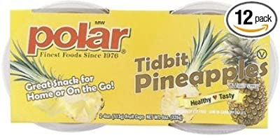 Polar Fruit Cup, Pineapple, 4-Ounce (Pack of 12) by Nature's Best