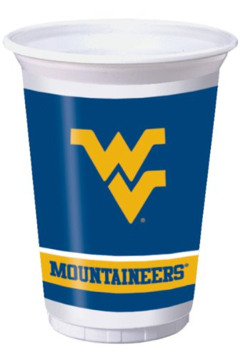 West Virginia Mountaineers 20 oz. Plastic Cups, 8-Count