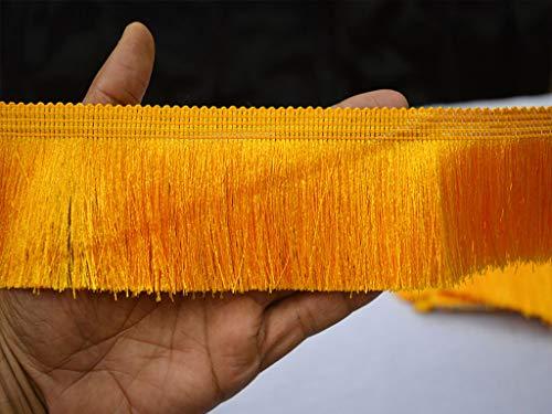 Bohemian Boho Ethnic Ribbon Retro Fringed Trim Embellishments Wholesale Yellow Brush Fringe Trim Tape Laces Crafting Sewing Lace Art Silk Thread Fringes