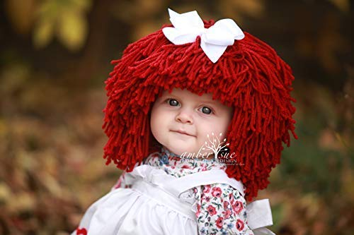 Raggedy Ann Hat for Kids Yarn Wig Halloween Costume