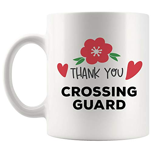 Thank You Crossing Guard Mug Best Coffee Cup Gift Thanksgiving Appreciation gifts ideas for Employees | School Funny Best Gift Mom Dad Graduation Future Most - Mug Guard Coffee Crossing