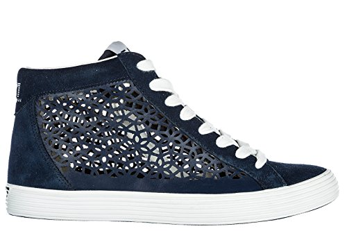 Trainers Women's Shoes high Laser Sneakers Emporio bl EA7 top Suede Armani Pride C0EqwHwxA