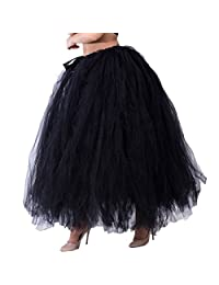 Dorchid Women Puffy Tutu Tulle Skirt Crinoline for Dance Maxi Plus Size
