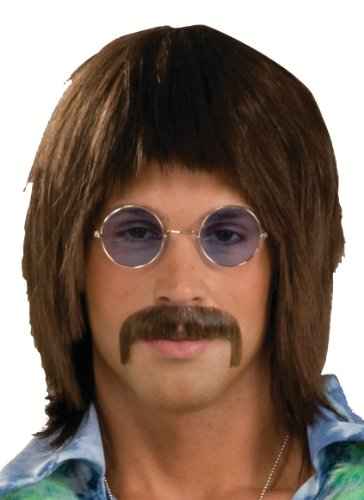 [Forum Novelties Men's 1960's Costume Singer Wig, Brown, One Size] (Wholesale Costumes Wigs)