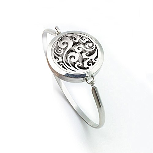 Cloud Essential Oil Diffuser Cuff Bracelet Stainless Steel Aromatherapy Perfume Locket Pendant Bangle-25MM
