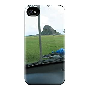 New Fashionable DustinHVance WJLuliR7762Ckzno Cover Case Specially Made For Iphone 4/4s(chinaman's Hat Kite Wind Surfing Beach State Park Leeward O'ahu Hawaii In The Rain 01/06)