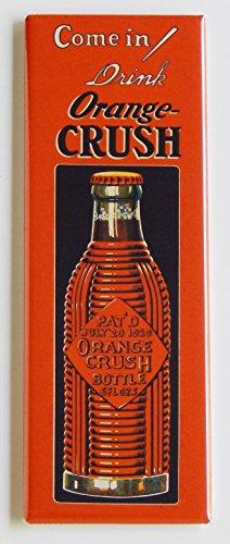 Orange Crush Soda Sign Fridge Magnet (1.5 x 4.5 inches)