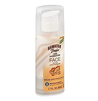 Hawaiian Tropic Silk Hydration SPF 30 Face 1.7oz (2 Pack) + Schick Slim Twin ST for Sensitive Skin Simple Facial Wipes Cleansing 25 wipes, 4 count