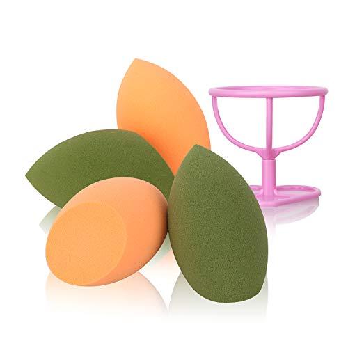 HIEIE Makeup Sponge with Dry Holder Beauty Sponge Blender Flawless Foundation for Liquid Cream and Powder (4+1Pcs)