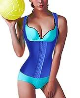 waist cincher shaper slimmer corset vest tummy trimmer trainer belt for women after pregnancy body shaper bodysuit (3XL, Blue)