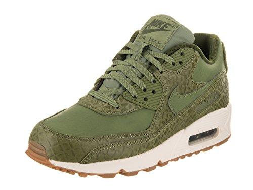 Nike Women's Air Max 90 Prem Palm Green/Palm Green/Sail Running Shoe 10 Women US (Max Leather)
