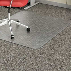 Lorell Rectangular Chair Mat, 46 by 60-Inch, Clear