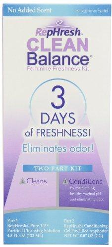 RepHresh Clean Balance Feminine Freshness Kit 1 kit (Quantity of 4)