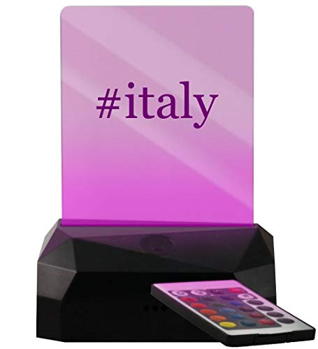 #Italy - Hashtag LED USB Rechargeable Edge Lit Sign