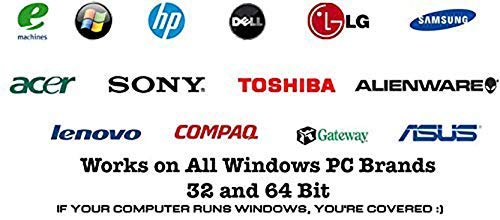 Windows 10 Home and Professional Compatible 32/64 Bit DVD  Recover, Repair,  Restore or Install Windows To Factory Fresh