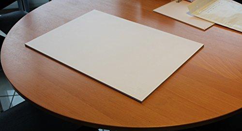 2 Stück Schreibtischunterlage blanko, Schreibtisch, Unterlage, Büro, Schreibblock, Schreibunterlage, Zeichenblock, Malblock, Notizfläche, geblockt zu 40 Blatt auf Graukarton, DIN A2