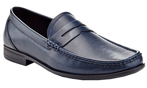 Vanucci Adolfo Franco Shoes Loafers Blue Textured Men's Cut Karl On Driving Low Driving Slip 5n4xnUTrH