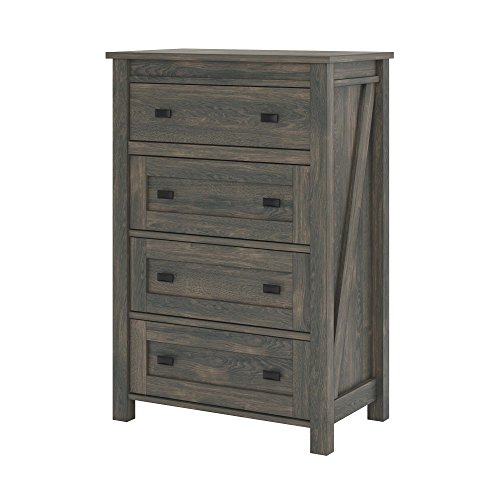 Ameriwood Home 5962213COM Farmington, 4 Drawer Dresser, Weathered Oak