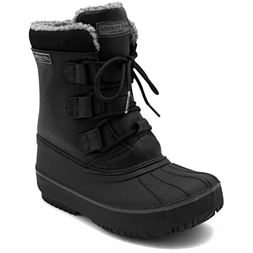 LONDON FOG Boys Cheshire Cold Weather Snow Boot Black 1