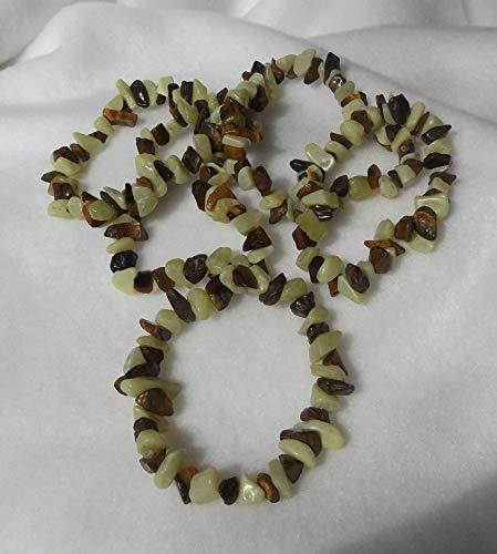 Chip Gemstone Bracelets, New Jade and Golden Tiger ()