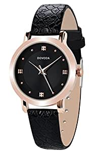 Dovoda ladies watches quartz analog simple dress casual watch for women rose gold for Dovoda watches