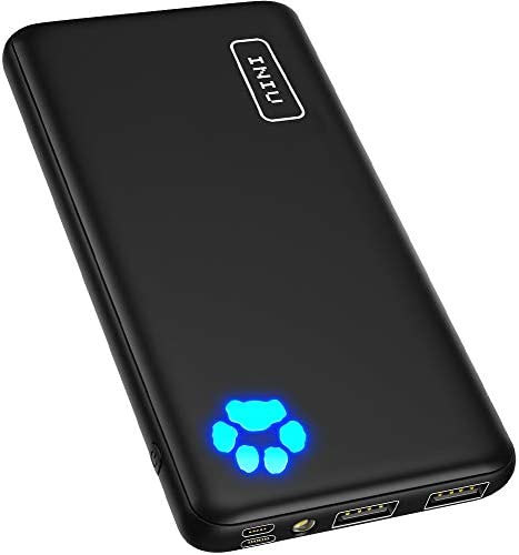 INIU Portable Charger, USB C Slimmest & Lightest Triple 3A High-Speed 10000mAh Power Bank, Flashlight Battery Pack Compatible with iPhone 12 11 X 8 Plus Samsung S20 Google LG iPad and many others. [2021 Version]