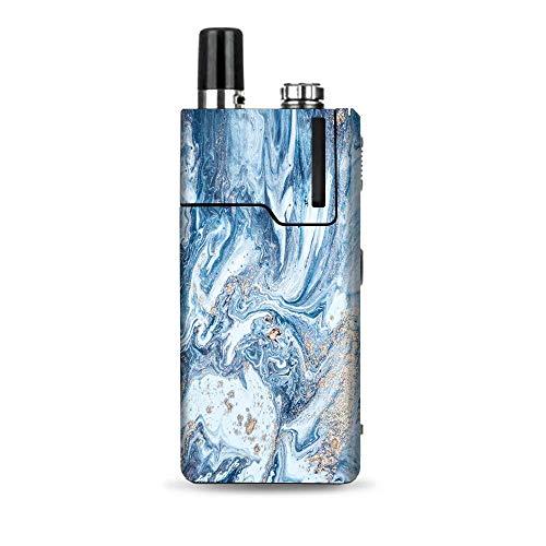 IT'S A SKIN Decal Vinyl Wrap Compatible with Lost Vape Orion Q/Blue Gold Grey Marble Pattern Clouds (Best Vapes For Clouds Cheap)