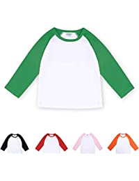 Toddler Baby Girls Boys Long Sleeve Shirts Raglan Shirt...