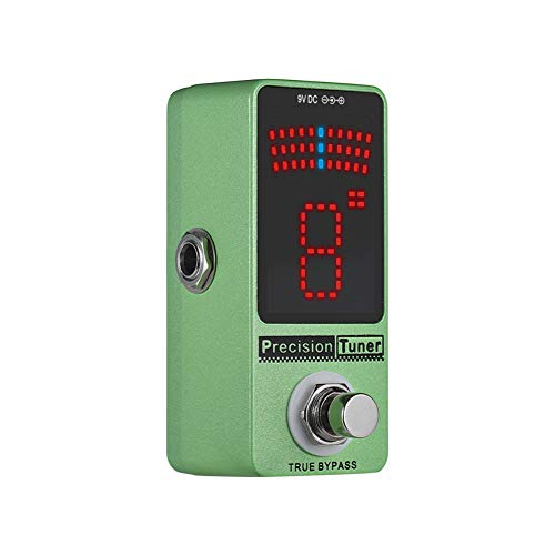 - hAohAnwuyg Tuner Pedal,Orchestral Instrument,Mini Chromatic Guitar Bass Precision Tuner Pedal Effect True Bypass LED Display