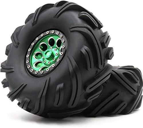 2.2クローラー 泥地形タイヤ タイヤ 高さ135mm & アルミ2.2ビードロックホイールリム 2個