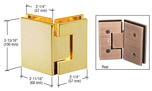 CRL Vienna 045 Series Brass 135° Glass-to-Glass Hinge ()