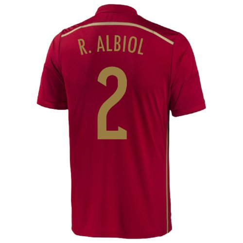 Adidas R. Albiol #2 Spain Home Jersey World Cup 2014 (Youth) (YXL)