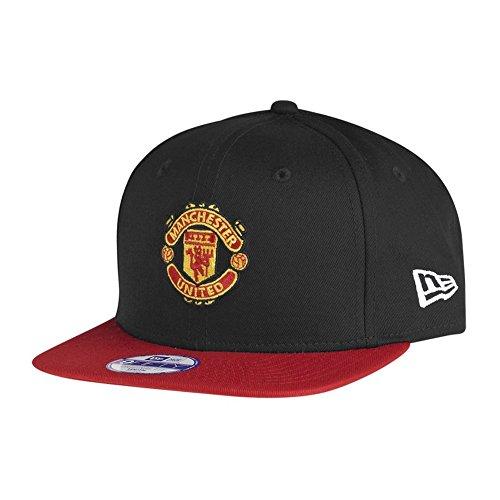 必要ない線フェザーニューエラ (New Era) スナップバック 子どもたち キャップ - マンチェスター?ユナイテッド (Manchester United) ブラック/赤