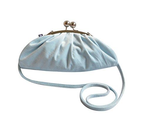 Mimosastyle VVEMP - Bolso cruzados para mujer Gris gris S azul claro