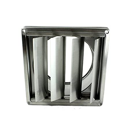 Stainless Steel Wall Air Conditioning External Vent Square Outlet Gravity Flaps