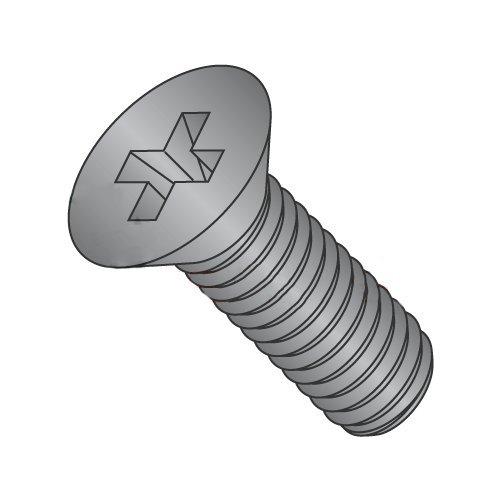 8-32 x 1 Machine Screws/Phillips/Flat Head/Steel/Black Oxide (Carton: 7,000 pcs)