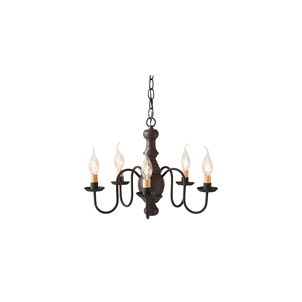 Irvin's Country Tinware Lancaster Chandelier in Black