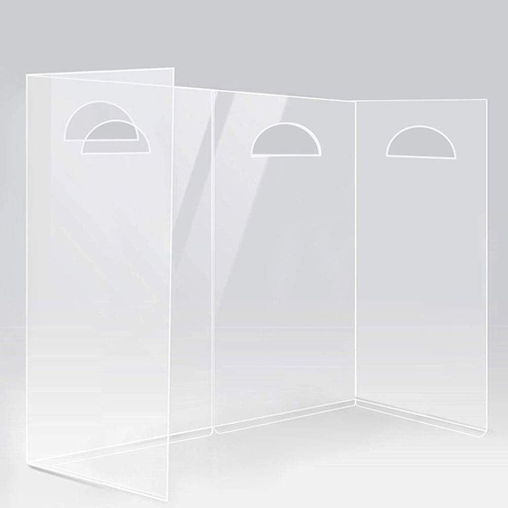 Best Partition Protector for Portable Office Walls dividers Sneeze Guard Desk Shield,Sneeze Guard for Desk,Plexiglass Barrier for Counter,Plexiglass Shield for Desk