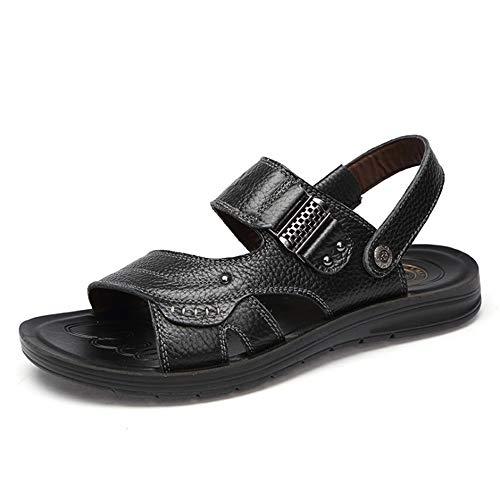 Libero Da Pelle Da Sandalo Sandali 28 Aperta In Scarpe pantofole 24 Wagsiyi CM Uomo Nero 5 Spiaggia Tempo spiaggia Il All'aria Per 0 da FSEczxq