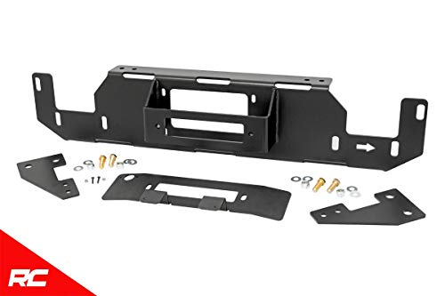 (Rough Country Hidden Bumper Winch Mounting Kit (fits) 2015-2019 F150 (F-150) Stock Bumper Winch Plate 51007)
