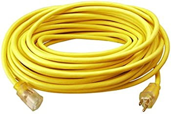 Woods 982554 50-Feet 12/3 SJTW High Visibility Extension Cord