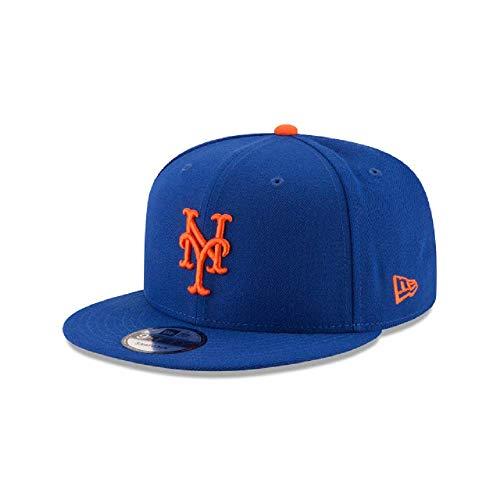 - New Era New York Mets MLB Basic Snapback Original Team Color Adjustable 950 Cap Royal Blue
