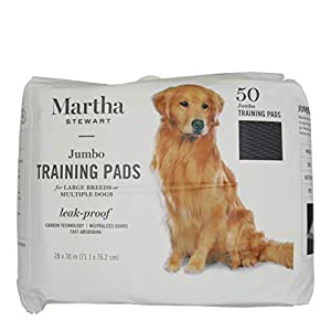 Martha Stewart Pets Jumbo Training Pads for All Dogs & Puppies | Extra Large Dog & Puppy Pads