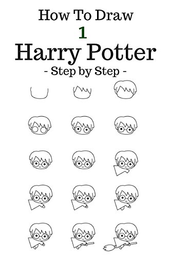 How to draw harry potter step by step to draw cartoon character harry